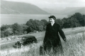 08_District nurse using car to access remote patient nr Loch Fyne, Argyll, in 1959 (Crown Copyright)
